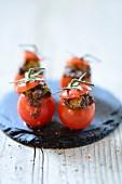 Stuffed mini tomatoes