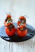 Stuffed mini tomatoes