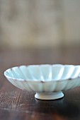 A white porcelain bowl