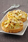 Two apple tartlets