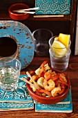 Gebratene Shrimps mit Knoblauch