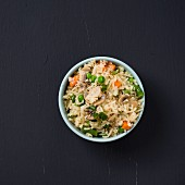 A bowl of vegetable pilau