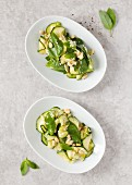 Courgette with basil and pine nuts (Italy)