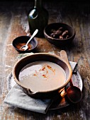Cream of chestnut soup with white truffles à la Hildegard von Bingen