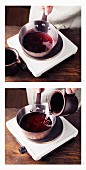 Diluted wine à la Hildegard von Bingen being boiled