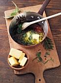 Tannensalbe nach Hildegard von Bingen mit Butter herstellen