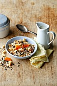 Glyx muesli with flaxseeds, dried apricots and apples (simple glyx)