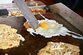 Fried eggs being made (Puerto Vallarta, Mexico)