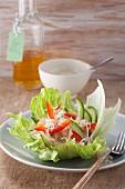 Sauerkrautsalat mit Gurke & Paprika (Nachfastenzeit)