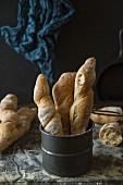 Rustikale Farro-Baguettes