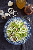 Puntarelle salad with red spring onions (Italy)