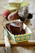Chocolate cake with beetroot