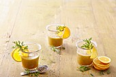 Orange and carrot smoothies with fennel and anise