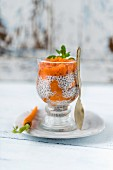 Chia pudding with carrots