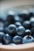 A close up of blueberries