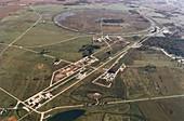 Aerial photo of Tevatron accelerator,Fermilab