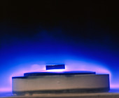 Magnetic levitation of superconductor