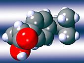 Ibuprofen molecule