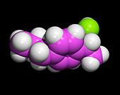 Ibuprofen molecule,painkilling drug