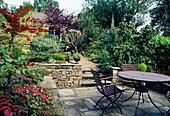 Patio in a garden