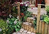 Wooden Steps in garden