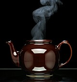 Teapot steaming