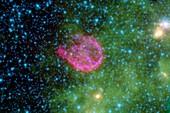 Supernova remnant N132D,infrared image