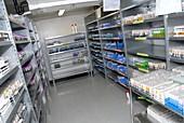 Blood sample storage room
