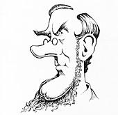 Joseph Dalton Hooker,caricature