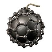 Buckyball bomb,conceptual artwork