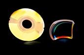 Laser attenuator disc