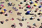 Crowded beach,Nazare,Portugal