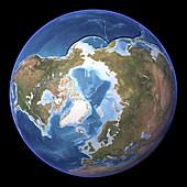 The Arctic,topographic map