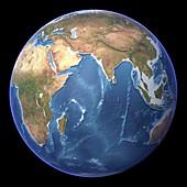 Indian Ocean,topographic map
