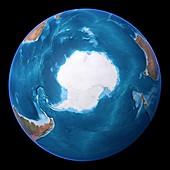 Antarctica,topographic map