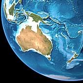 Australia,topographic map