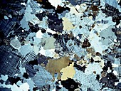 Granite rock,light micrograph