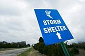 Storm shelter sign