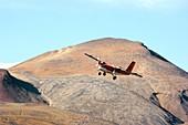 Twin Otter aircraft landing
