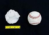 Baseball-sized hailstone