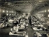 Flu ward,USA,1918