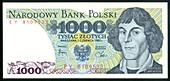 Nicolaus Copernicus on a Polish banknote