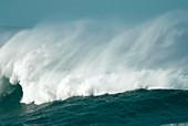Wind spray at sea