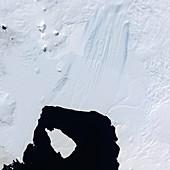 Pine Island Glacier,satellite image