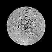 Moon's north pole,Clementine image