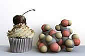 Sugary foods,conceptual image
