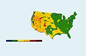 Geothermal mapping,USA
