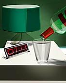 Alcoholism,conceptual artwork