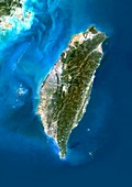 Taiwan,satellite image