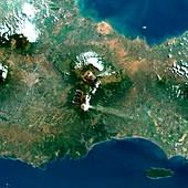 Tengger massif,Java,satellite image
